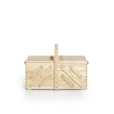 Houten naaibox naturel