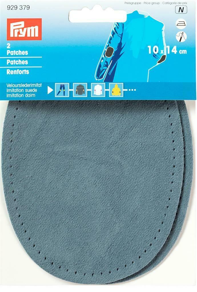 Patches lederimitatie opstrijkbaar 10 x 14cm middenblauw