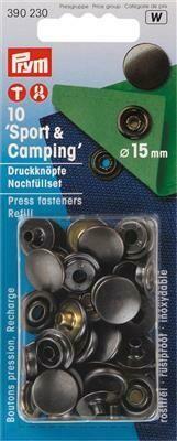 "Drukknopen ""sport & camping"" 15mm antraciet navulling"