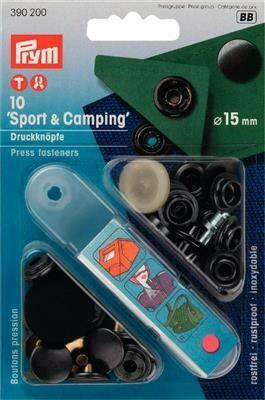 """Drukknopen """"sport & camping"""" 15mm antraciet"""