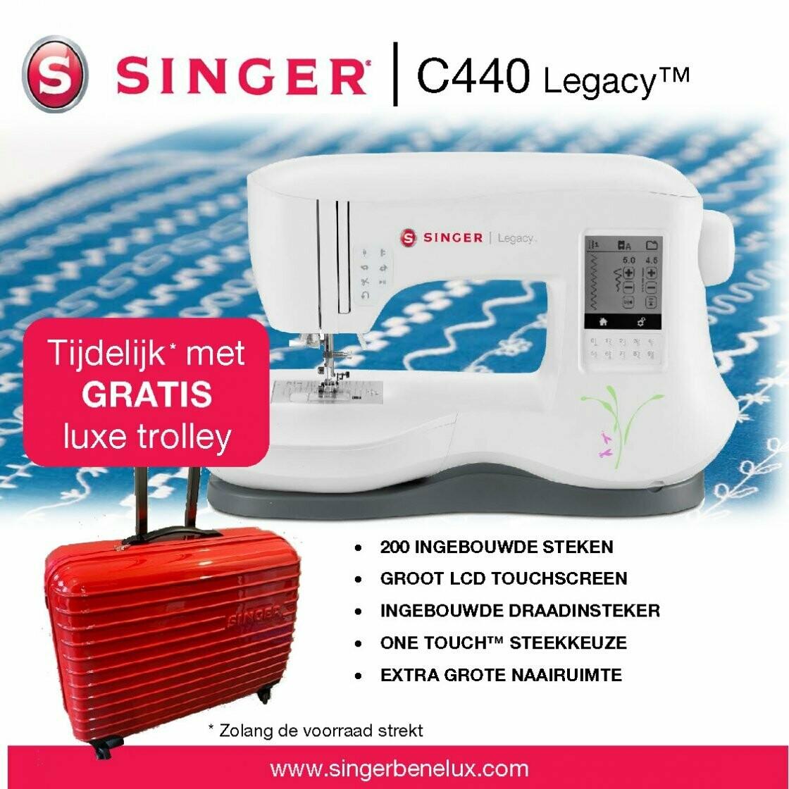 Singer Legacy C440 met gratis luxetrolley