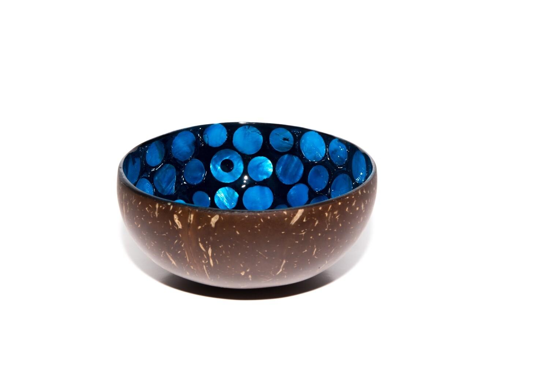 Blauw met parelmoer