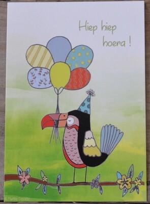 Papegaai met ballonnen