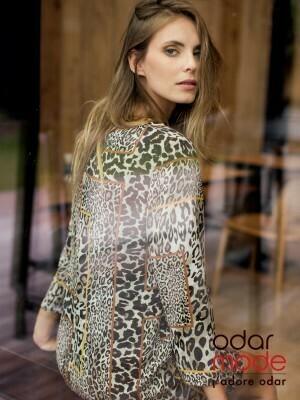 Signe Nature Kleed luipaard motief ( 36 - 48 )