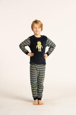 Eskimo Pyjama Robot; Velours ( Jongens 2 - 8jaar )