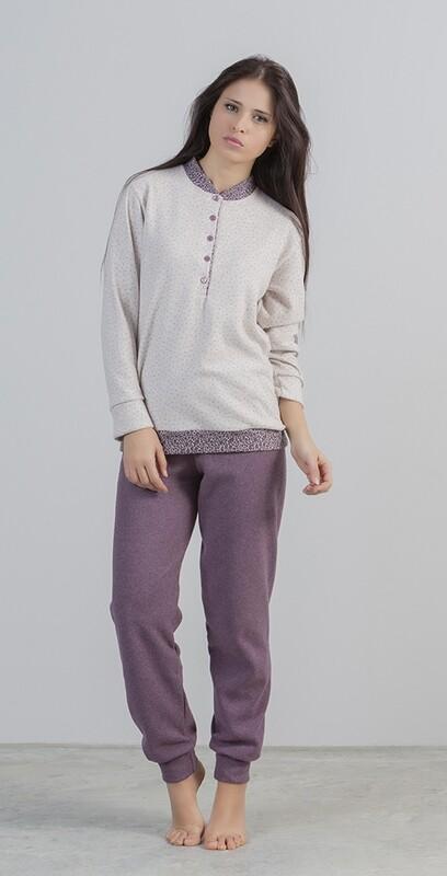 Gary Dames Pyjama: Blauw ( zeer warm )