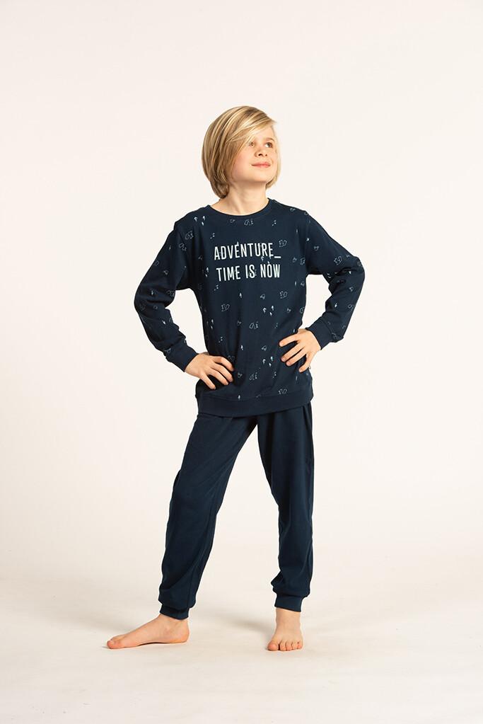 Eskimo Pyjama Jongens: Time is Now ( 100% Katoen ) 10J - 16J