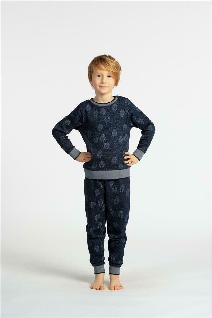 Eskimo Pyjama jongens: CAS ( french Terry ) Lichtjes gemoltoneerd 2 - 8J