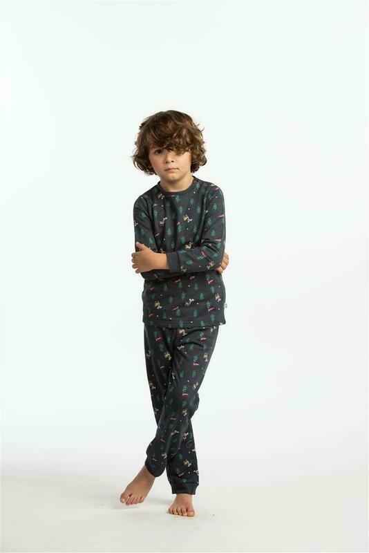 Eskimo Pyjama jongens / Meisjes: Dasher kerstpyjama Gemoltoneerd 2 - 8j