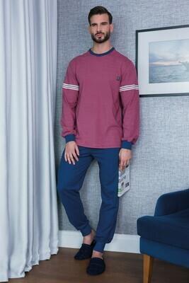 Ammann Heren Pyjama met ronde hals 100% Katoen