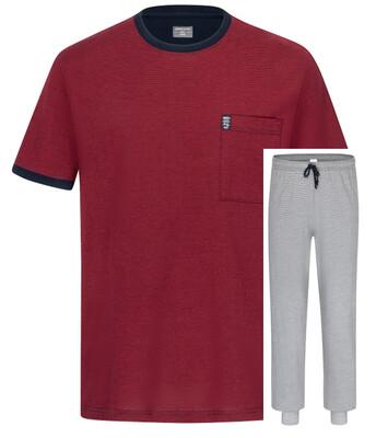 Ammann Heren pyjama: Shirt korte mouw met lange broek