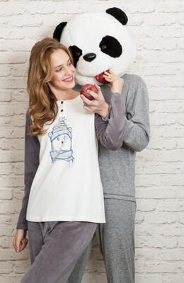 Egatex Dames pyjama: Fleece met Polar Bear