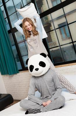 Egatex Dames pyjama: 100% Katoen met ijsberen opdruk