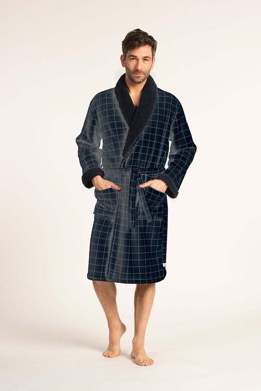 Eskimo Fleece Peignoir met riem: Pepijn