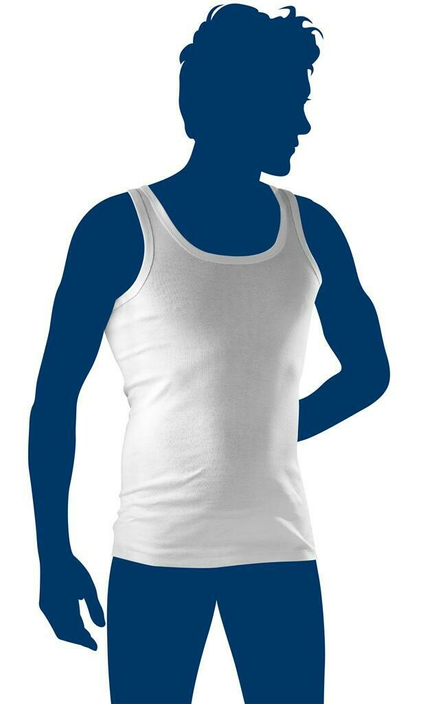 Eskimo Heren Fil Top Singlet Wit ( M - 3XL )
