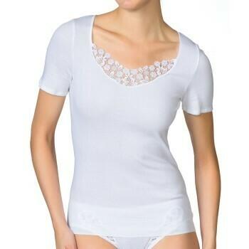 Calida dames Naadloos hemdje korte mouw: 100% Extra Fine cotton