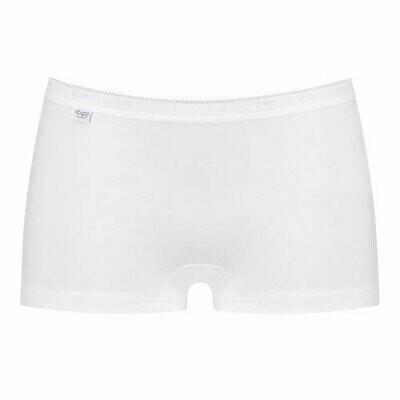 Sloggi dames: Basic Short ( zwart / wit )