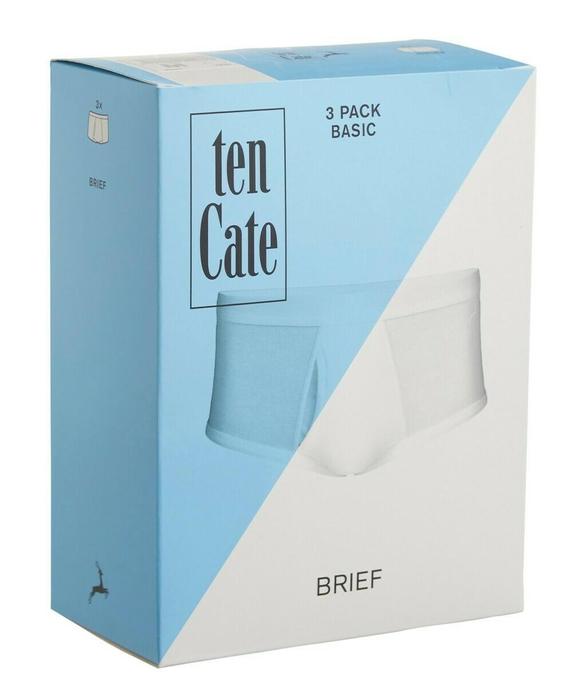 Ten Cate Men Basic brief 3pack ( wit ) Met opening