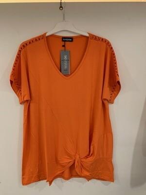 SeeYou Oranje T-shirt V hals tot maat 54