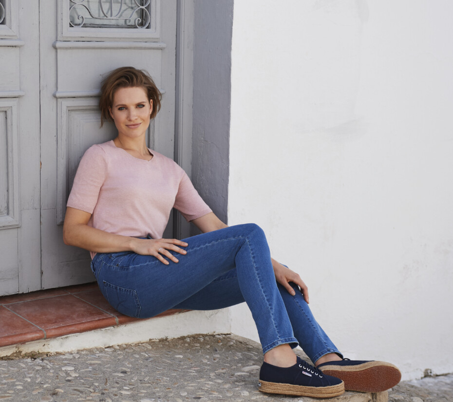 Para Mi Celine Reform Denim: Medium Blue L32 Skinny Leg