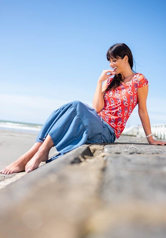 Diversa Lange Jeansrok op elastiek