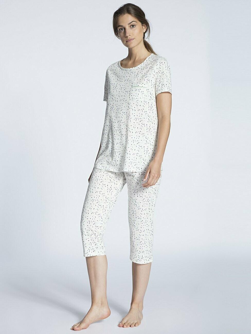 Calida Pyjama met 3/4 broek ( 100% Katoen )