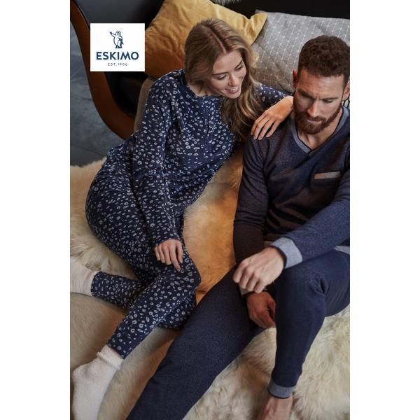 Eskimo Dames Pyjama: Joyce ( Velours pyjama )