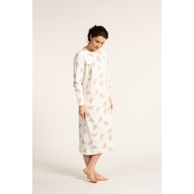 Eskimo Nachthemd: Annie gemoltoneerd lang slaapkleed