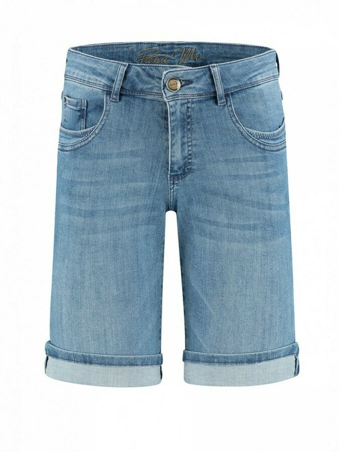 Para Mi Lyndsey jeansshort: Water blue color