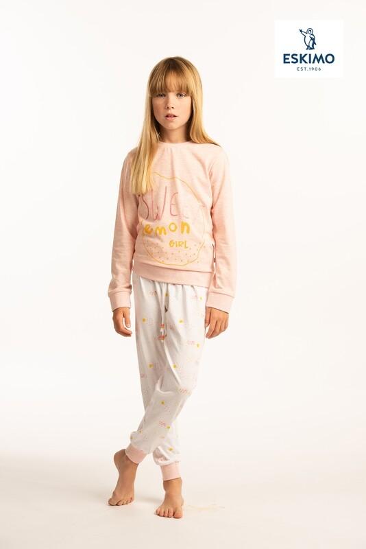 Eskimo meisjes pyjama (10-16jaar): Sweet Lemon