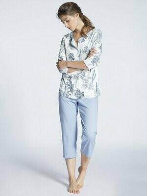 Calida dames pyjama met 3/4 mouw 100% Katoen