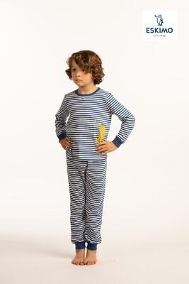 "Eskimo ""Kolor collection"" jongens pyjama met lange mouw"