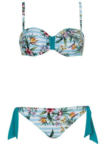 Olympia Voorgevormde Bikini blauw gestreept