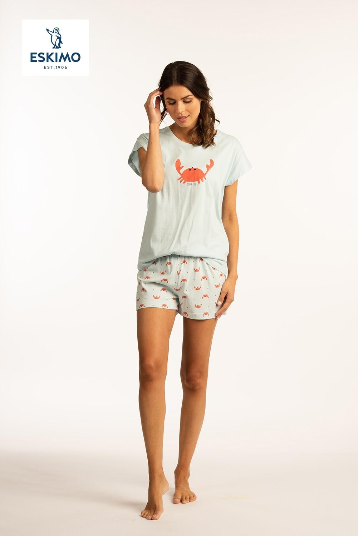 Eskimo Dames pyjama met short: Crab