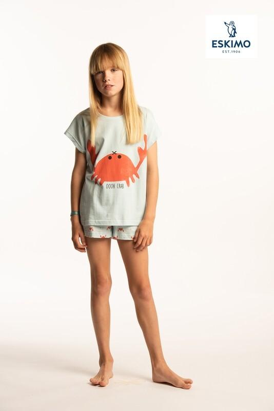 Eskimo Meisjes Pyjama ( 10-16 jaar ): Crab