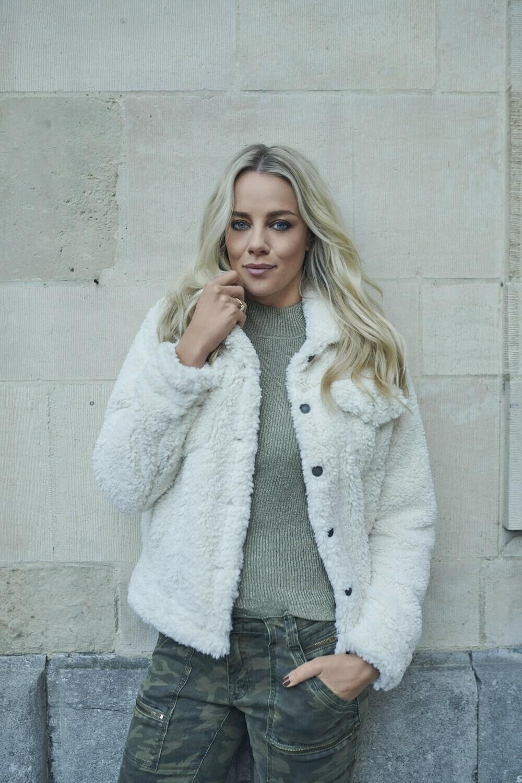 Esqualo Vest Fake Fur: Off White