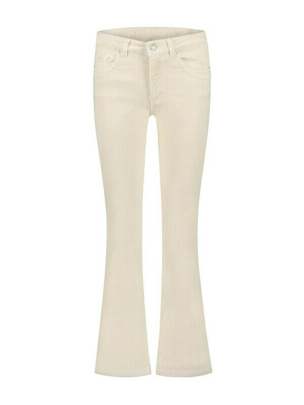 Para Mi Damesbroek: Jade Vintage corduroy ( Ribfluweel ) Off white, Wide leg