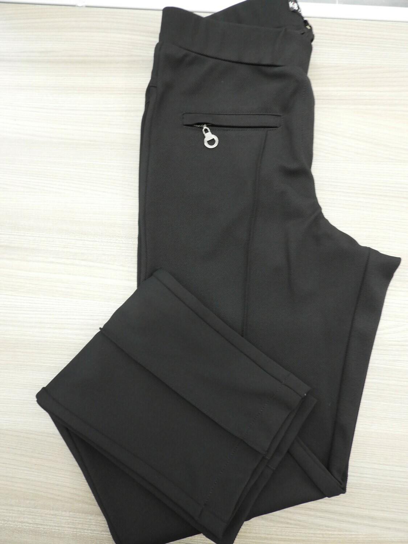 Kj Brand Zwarte Damesbroek: Jenny ( elastiek ) tot maat 52
