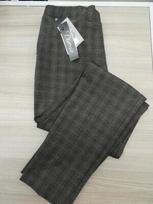 Diversa Broek met elastiek: Prince des Galles ( zwart / Bruin )