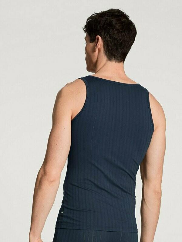 Calida Heren onderhemd zonder mouwen: Athletic shirt Blauw