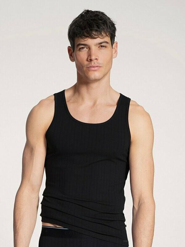 Calida Heren onderhemd zonder mouwen: Athletic shirt Zwart