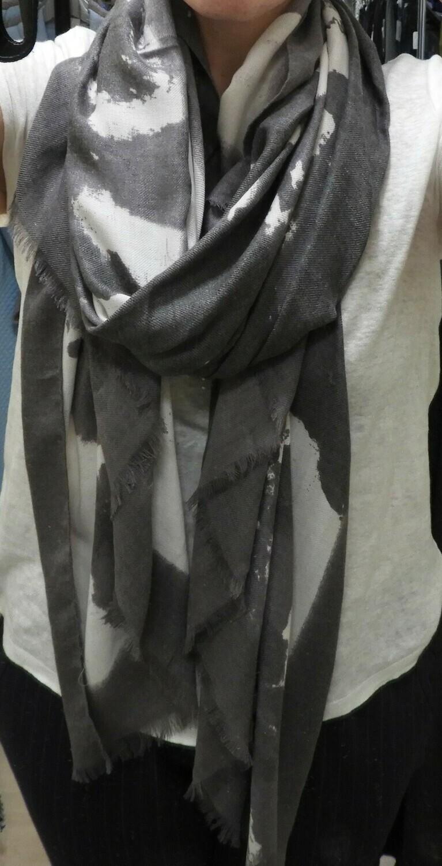 Marble Sjaal: Grijs / Ecru