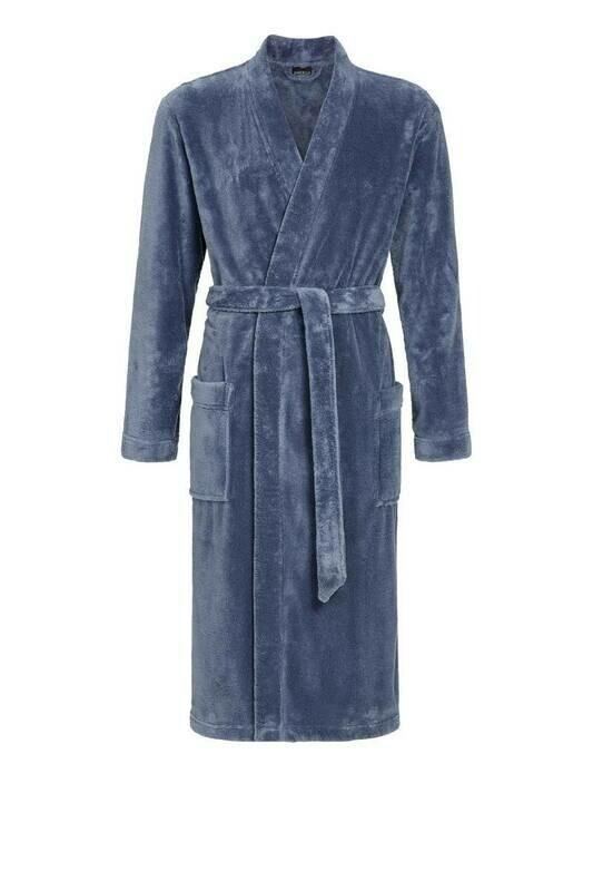 Ringella Heren Badjas: Licht Blauw ideaal voor sauna / douche ( Aqua )