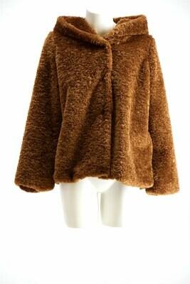 Signe Nature Bonten jas met kap: Camel