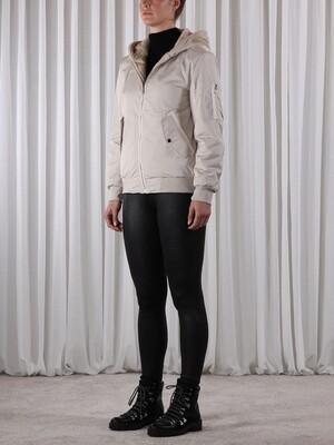Rino & Pelle vest: Ladia beige ( dubbel gebruik, bont / regen )
