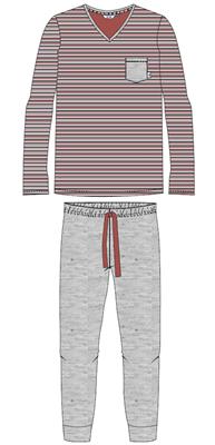 Eskimo Heren Pyjama: Justin 100% Katoen
