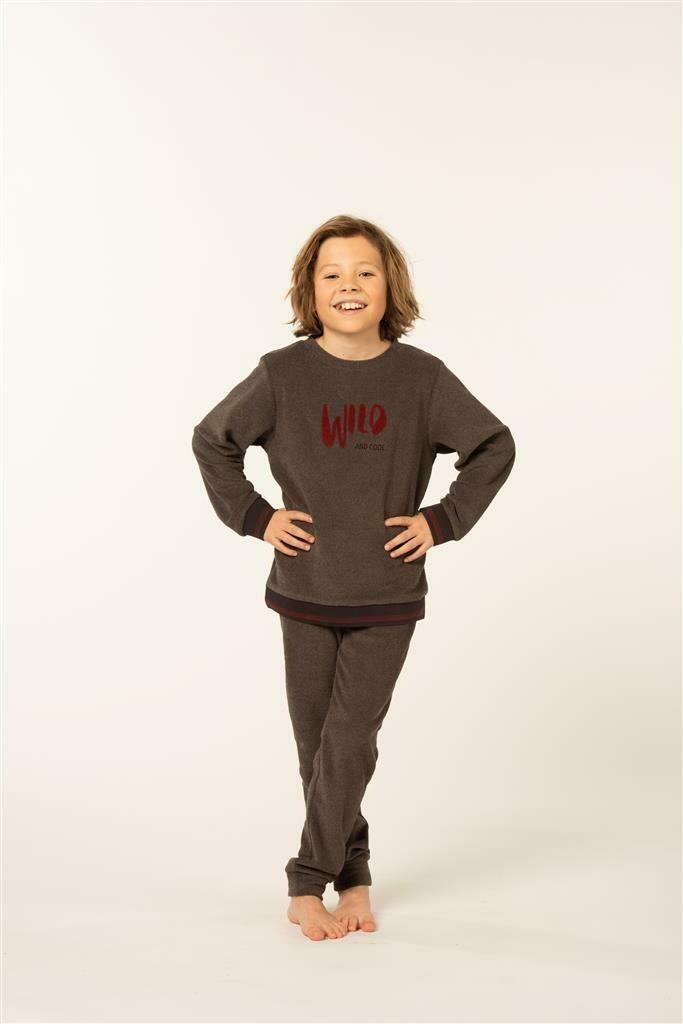 Eskimo Jongens Pyjama: Bowie ( Badstof / gemoltoneerd ) ( 10 - 16jaar )