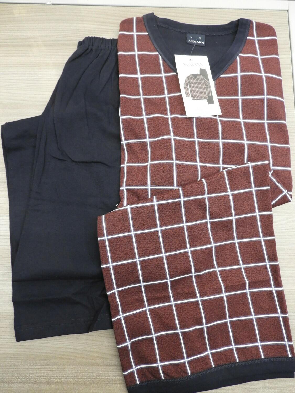 Ammann Heren Pyjama lange mouw 100% katoen tot 5XL