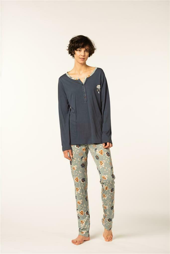 Eskimo Dames Pyjama: Irsa 50% Katoen 50% Modal