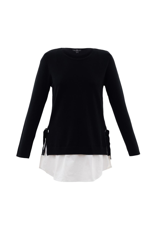 Marble Pull, zwarte met witte bloes